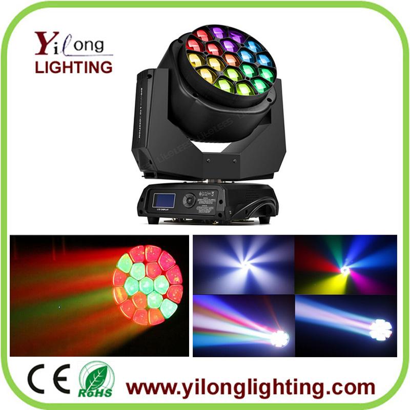 19PCS RGBW bee eyes moving head wash,led moving head light,China moving head,DJ light