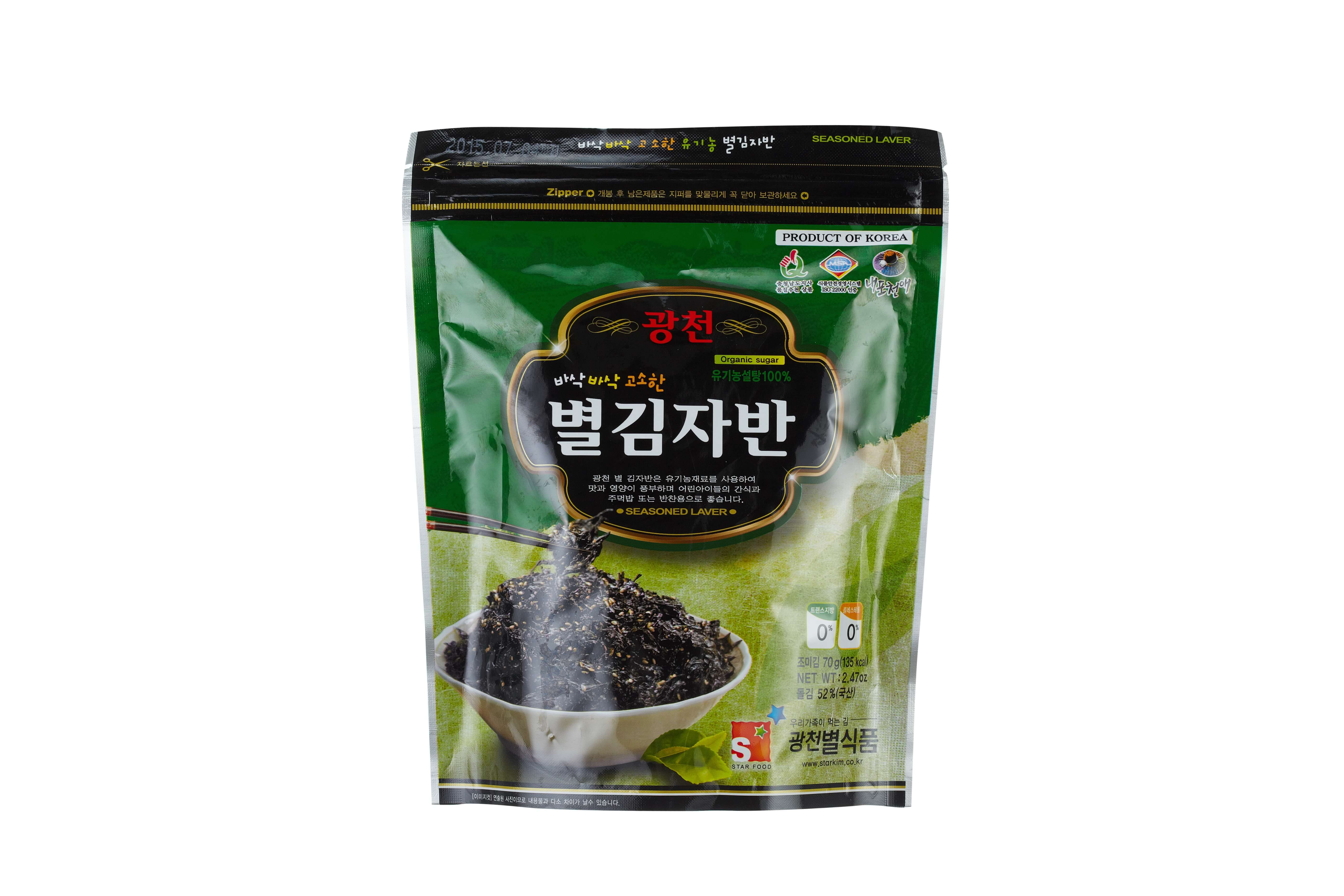 [50gx20]Gwangcheon BYUL MAT Roasted Laver(Jaban Laver)