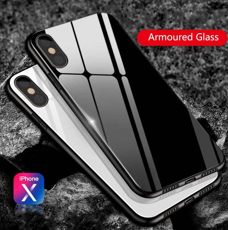 2018 Bulk 3 In 1 Beautiful Mobile Phone Back Cover Tempered Glass Phone Case For Iphone X Case