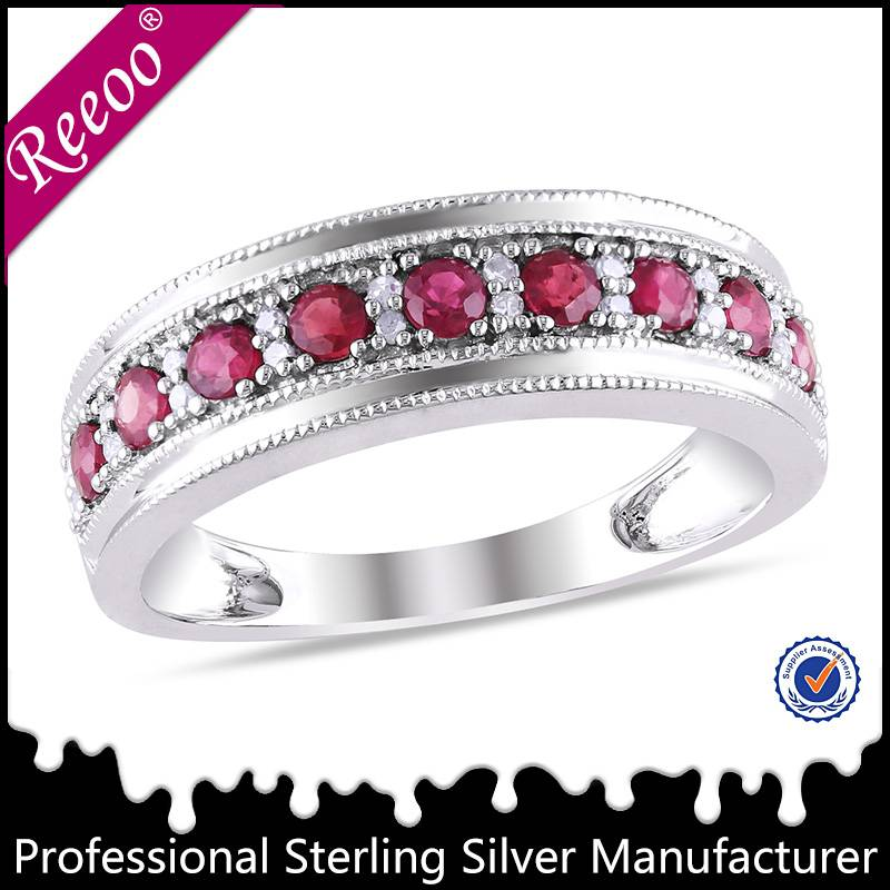 925 silver factory wholesale ruby ring