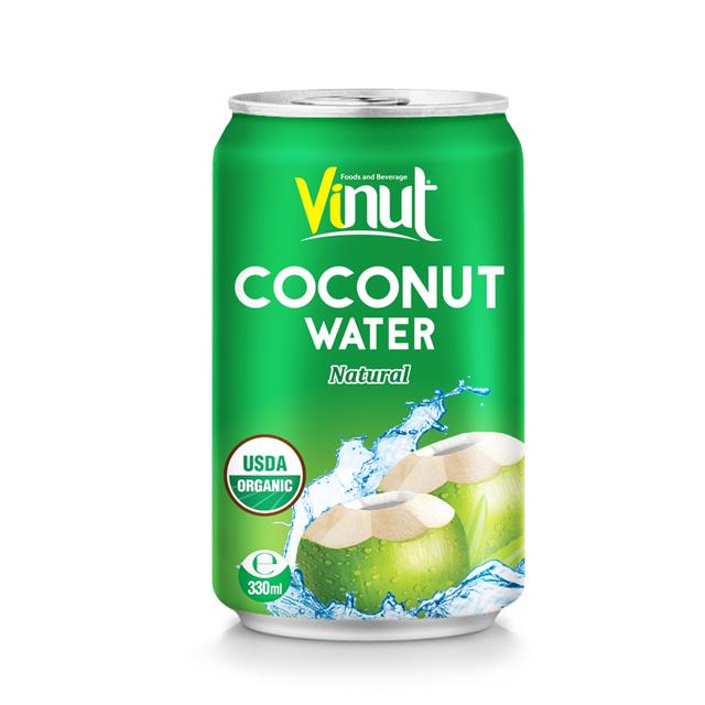 330ml Can Organic Coconut water (USDA Organic, EU Organic)