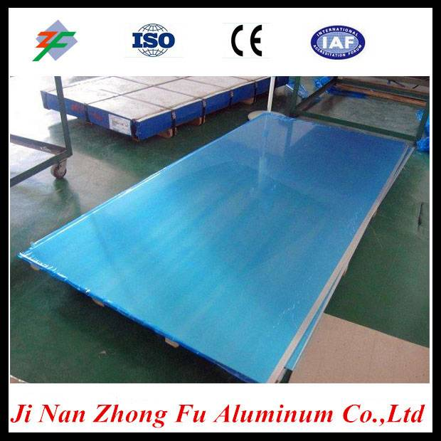 5052 h24 blue pvc film coated aluminum sheet from chinese supplier