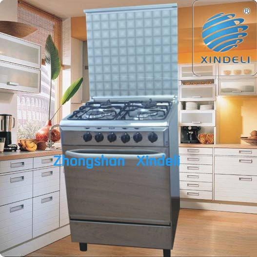 Inexpensive gas stove with mirror body oven