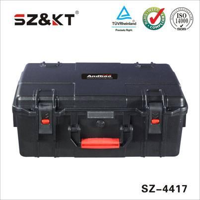 Hard plastic military waterproof equipment case