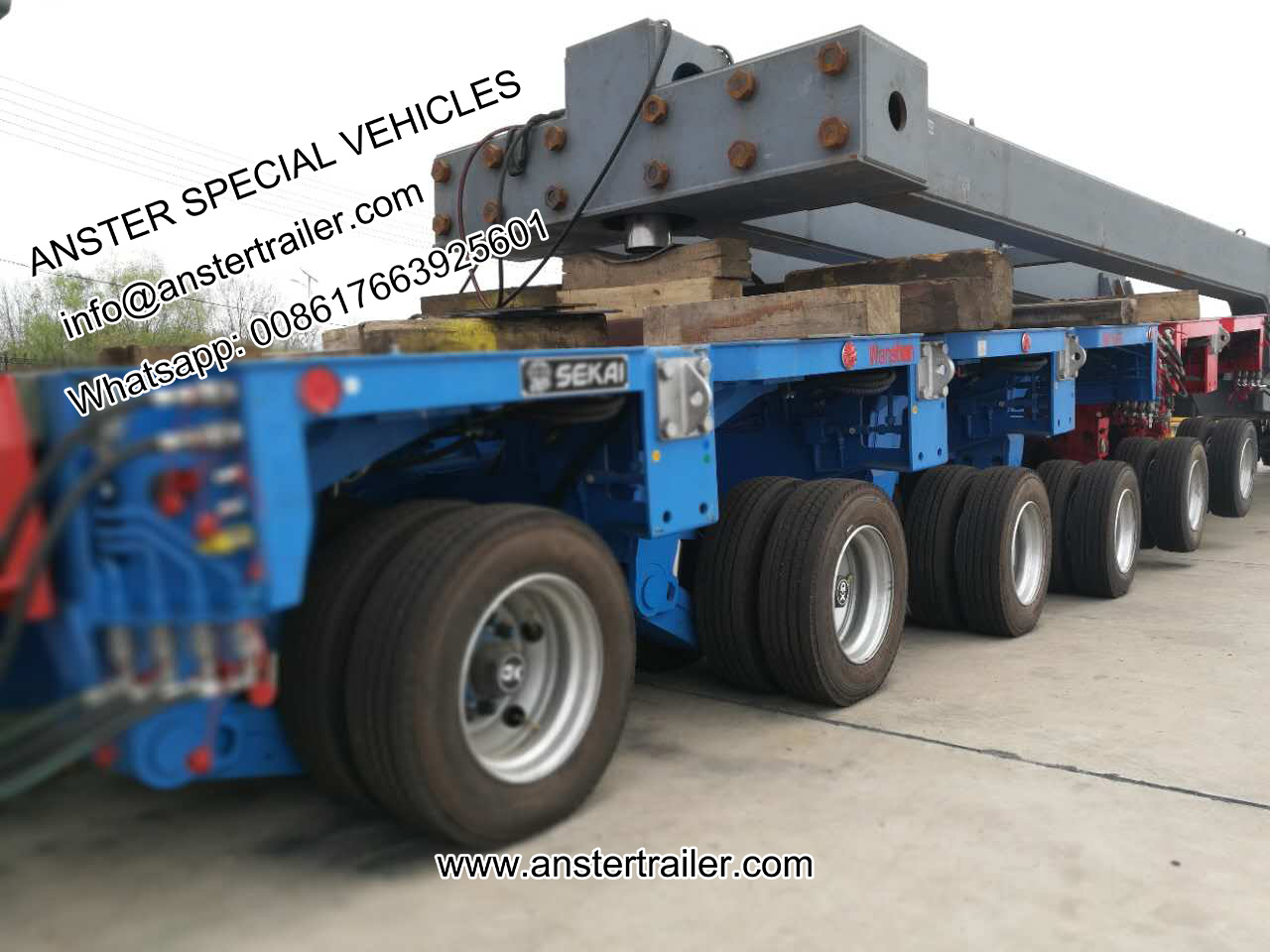 4/6/8 axles goldhofer THP/SL hydraulic modular trailers for sale