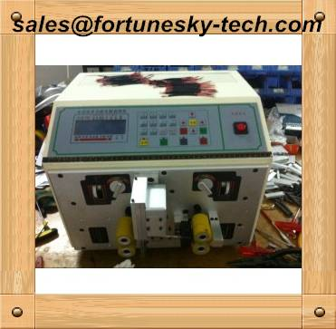 Automatic Dual Core Round Sheath Cable Stripping Machine