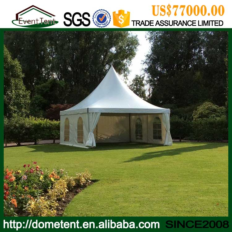High Quality Aluminum Frame PVC Coated Polyester Fabric Shade Tent / Pagoda Tent