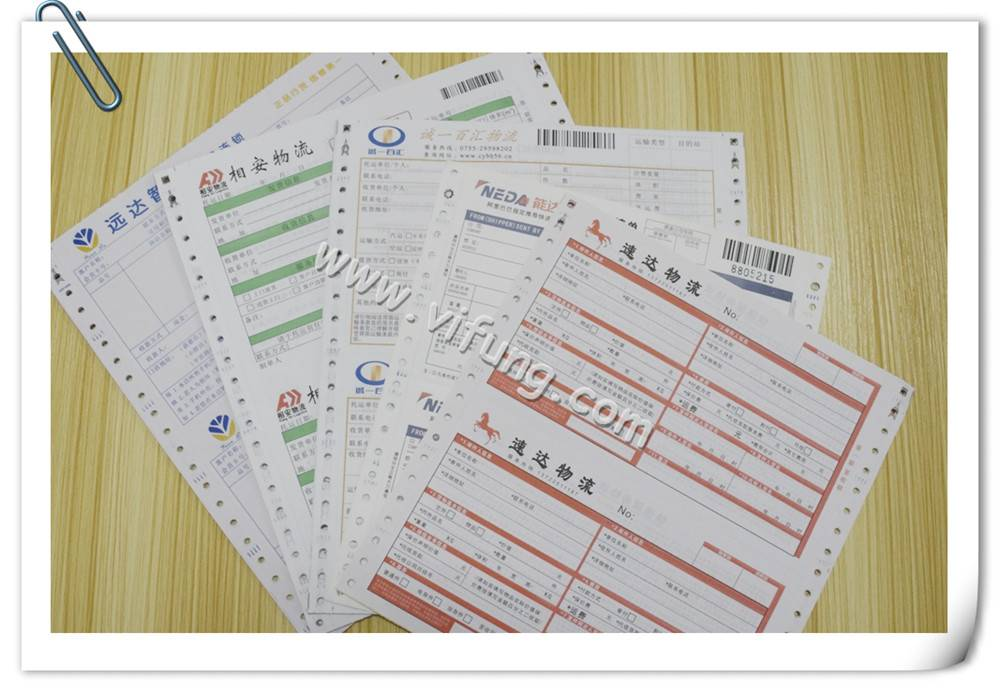 barcode airway bills printing with gum
