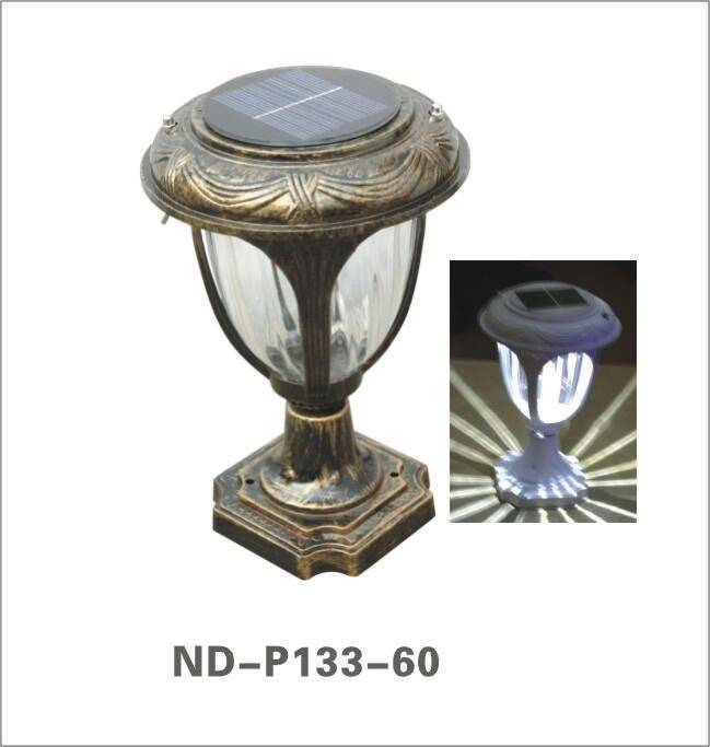 Nande solar LED pillar lamp
