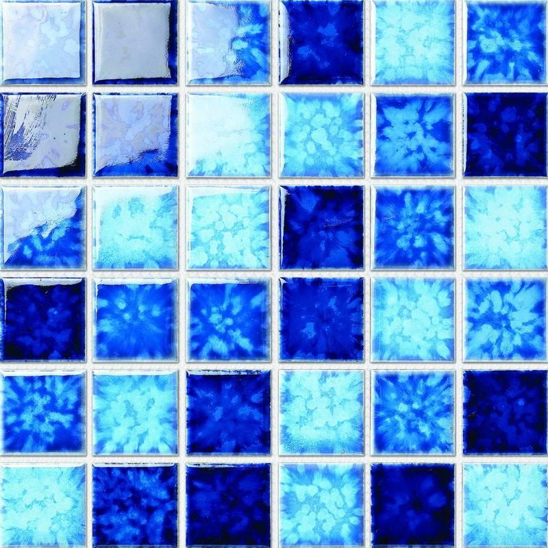 Mixed Blue Color Swimming pool Ceramic Mosaic Tiles