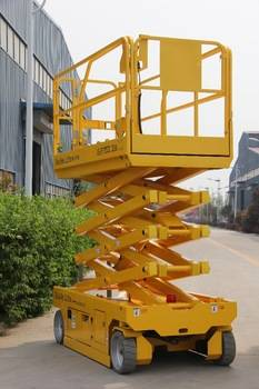 Self propelled hydraulic scissor lifts of 350kg capacity