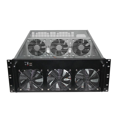 4U Miner Mining Frame Rig Graphics Case For 6 GPU ETH Ethereum