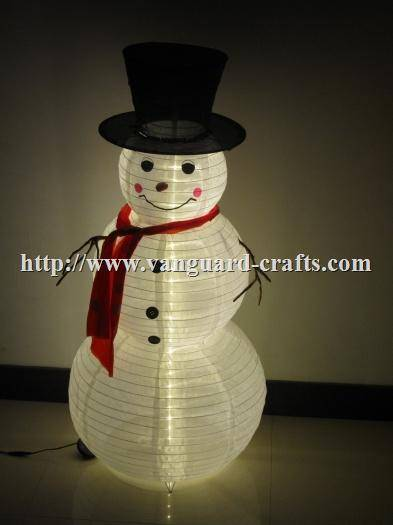 Snowman Fabric Floor Lamp