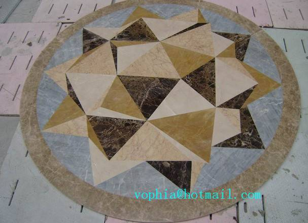 Cheap waterjet , Stone Medallions, pattern from manufacturer