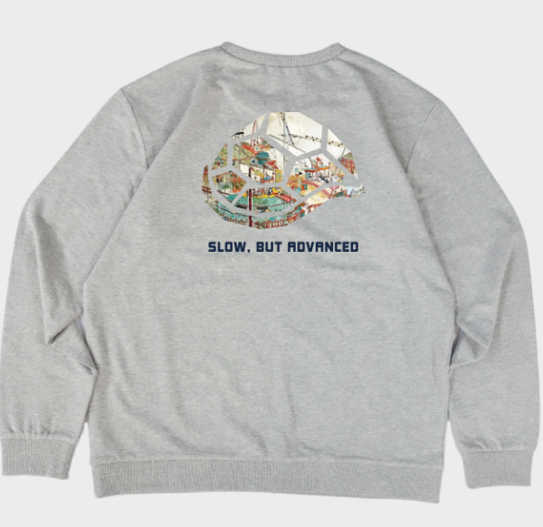 TURTLE SHIP SWEATSHIRTS , Lightweight sweatshirt with a printed design from Korea