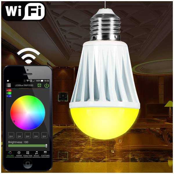 wireless touch dimmer,smart RGBW led lighting bulbs with wifi led dimmer