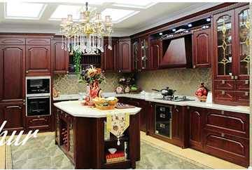 Authur,2016 Best Selling Solid Wood Kitchen Cabinet