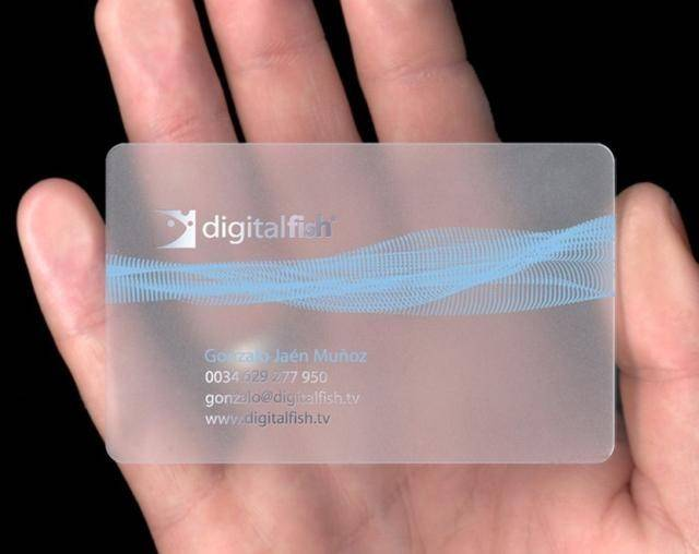 High quality and good price transparent business card
