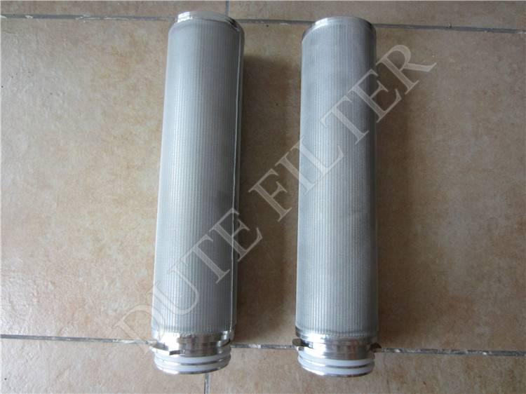 backwashing regeneration performance stainless steel filter cartridge