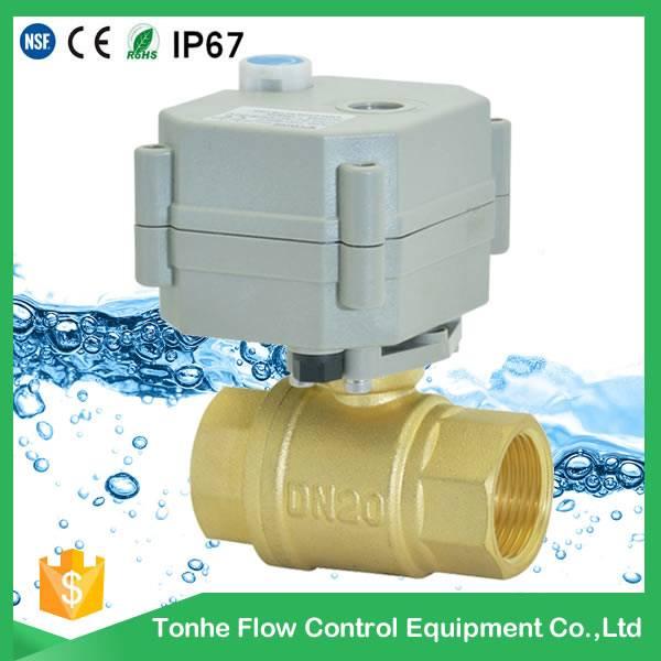 2016 DN20 NSF61 IP67 high quality cw614n brass motorized ball valve (T20-B2-B)