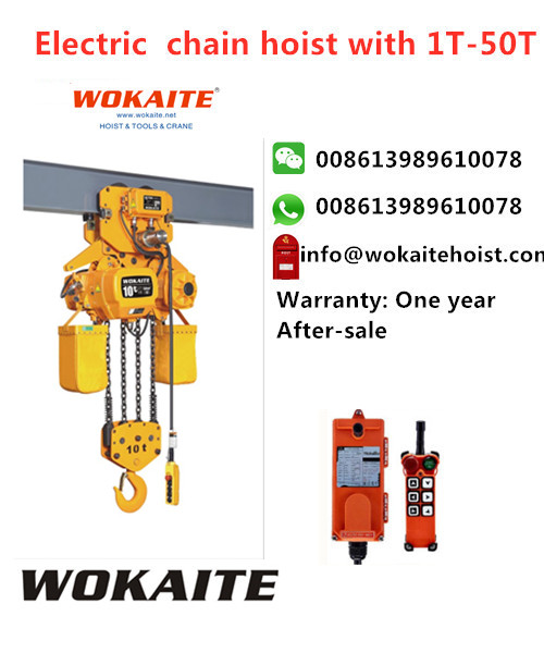 Electric electric hoist 10 ton electric chain hoist with electric trolley