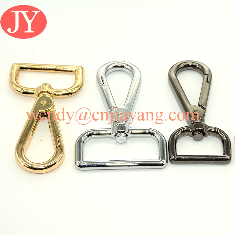 gold / metal gun /silver handbags strap swivel snap hooks