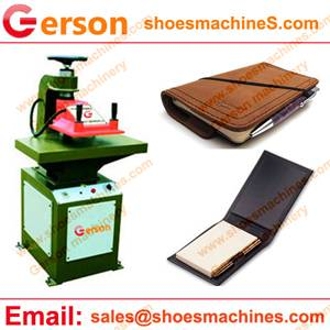 PU Leather Pocket Notebook Cover Die Cutting Machine