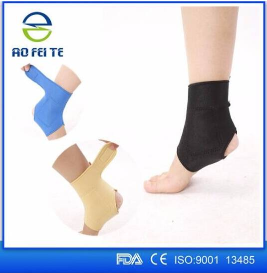1 Pair Self-heating Tourmaline Far Infrared Magnetic Therapy Ankle Support Brace