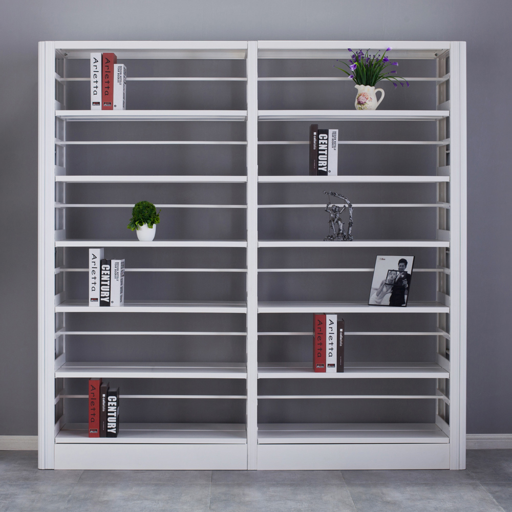 White Metal Modular Book Storage Furniture Book Shelf With Modern Design