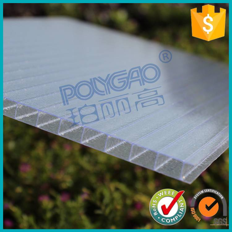 pc polycarbonate hollow sheet used Greenhouse for flower growing