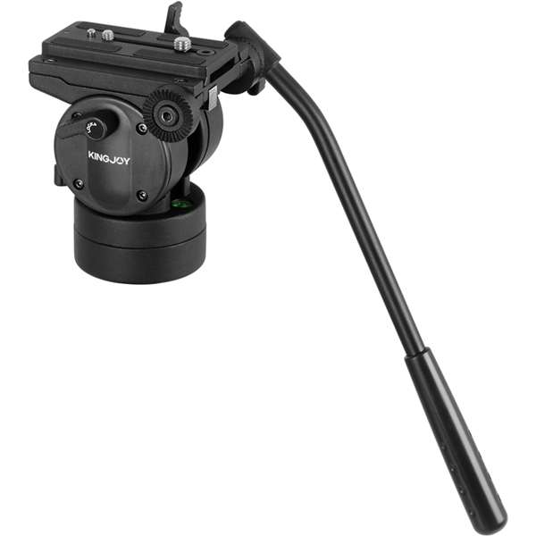 Kingjoy professional video camera bird watching pan tilt head with quick release plate