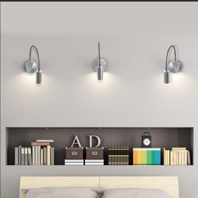 Hotel Surface Adjustable Switch Wall LED Reading Lamp
