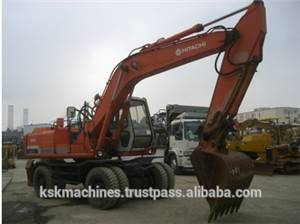 Hitachi used EX160WDS wheel excavator