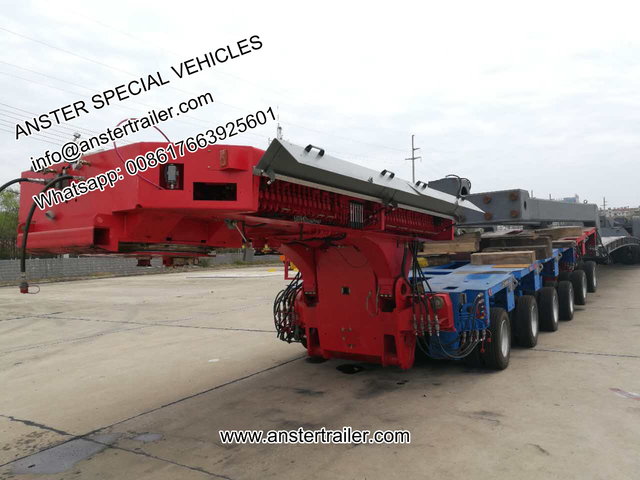 4/6/8 axles 40/45tons payload hydraulic modular trailers for sale