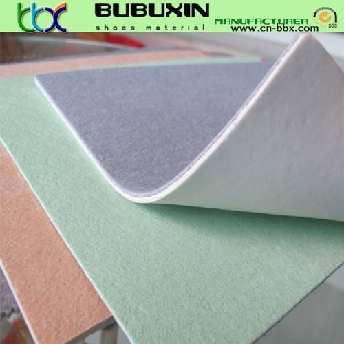 Non-woven fiber insole board laminated with EVA foam