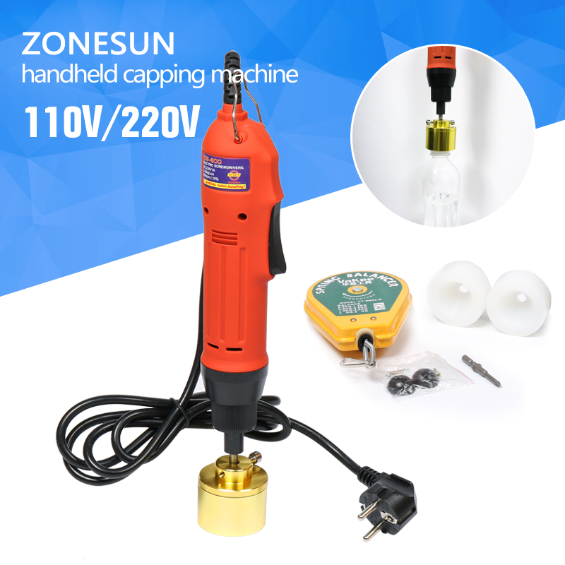 ZONESUN Manual electric Capping Machine for screw cap, screw capper plastic bottle capping machine