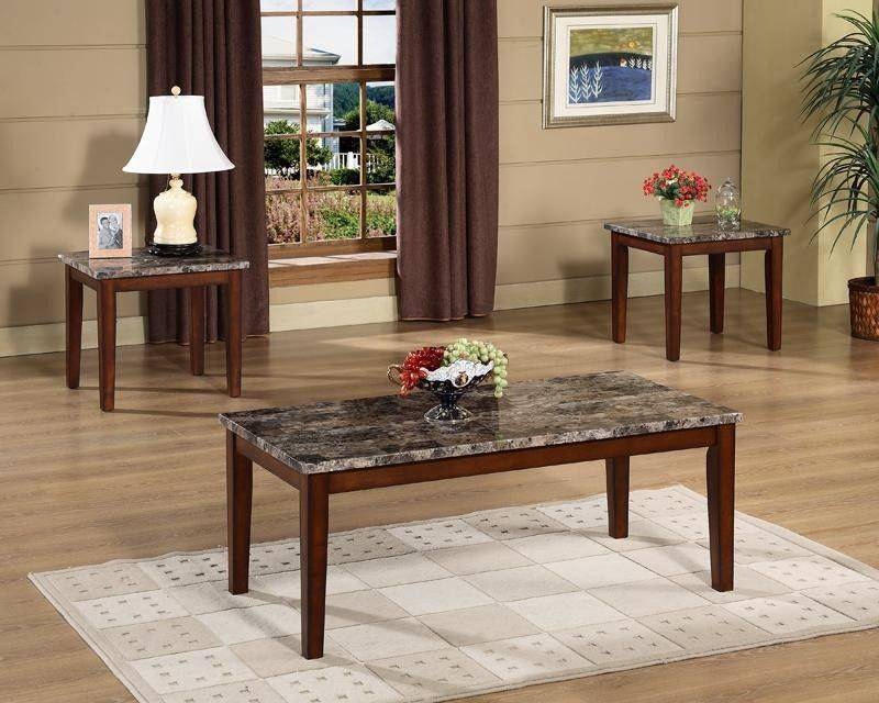 Modern and appearance wood coffee and tea table set