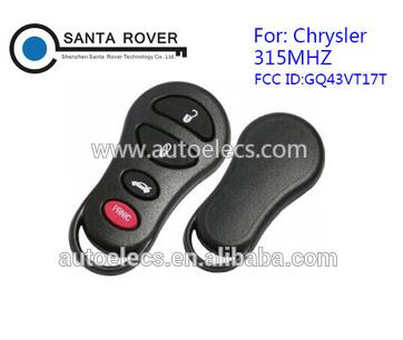 3+1 button For Chrysler Dodge Jeep keyless Entry Remote control Key (USA) GQ43VT17T