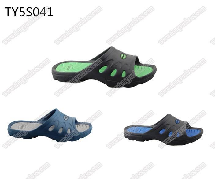 nude green material soft eva men bath sandals