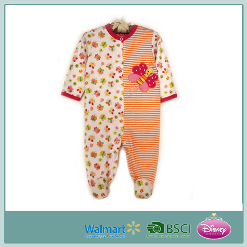 baby girl pure cotton baby full printed romper
