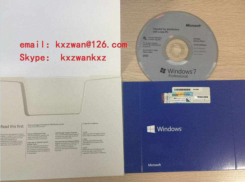 Wholesale Windows 7 pro oem pack with new oem key sticker