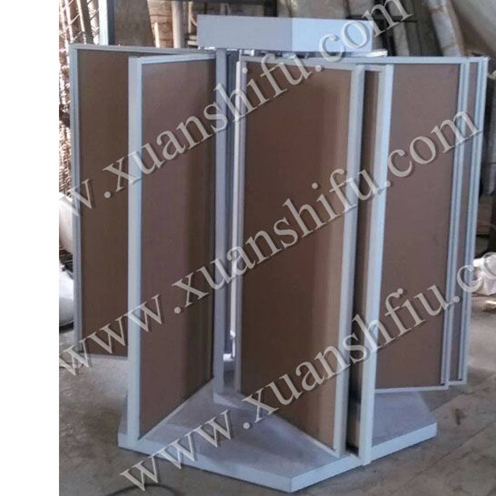 ceramic display stand page turning display showroom tile display