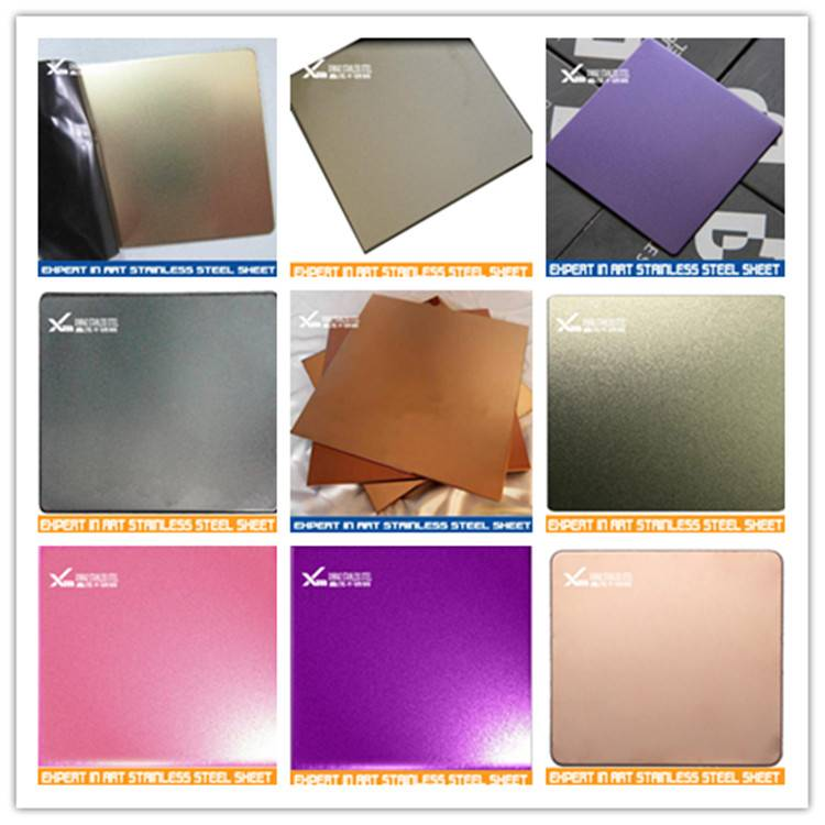 High Quality Decorative Color sand blast Stainless Steel Sheet per kg