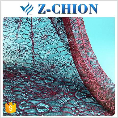 Top design shaoxing textile nylon cotton shoe swiss voile lace fabric