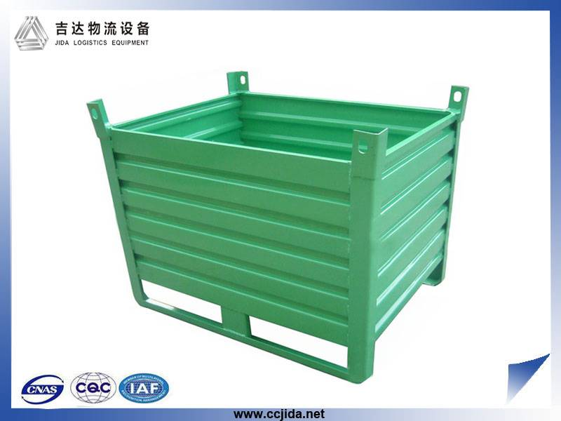 folding storage cage for warehouse