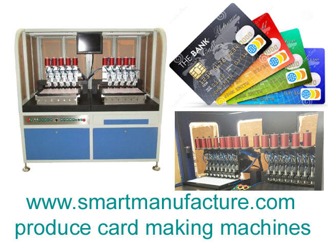 SMNCM-2 RFID Contactless Smart Card Antenna Embedding Machine