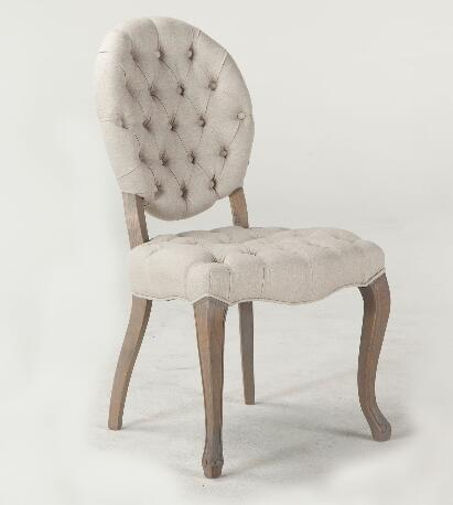 wooden leg fabric cover dining chair french chair