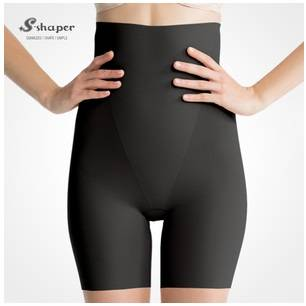 S-Shaper Tourmaline Blood Circulation High Waisted Shorty Seamless Invisible Panty