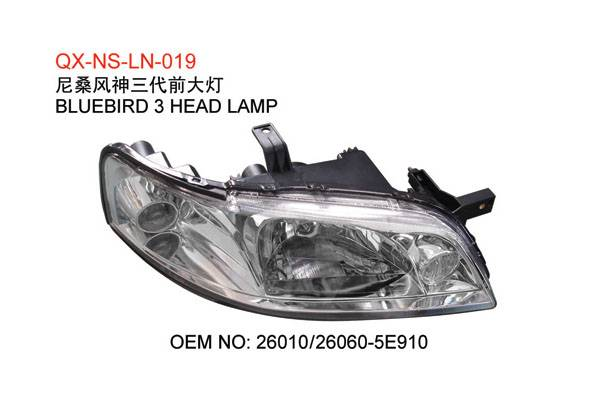 Nissan bluebird 3 head lamp