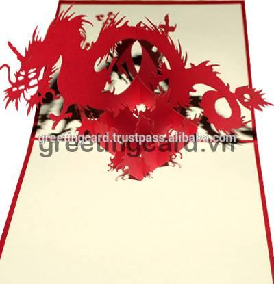 Dragon 3D pop up greeting card, birthday card